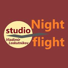 Ночной полет. Night flight.