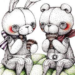 ペン画家田中のてんてん点描画