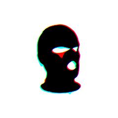 В маске